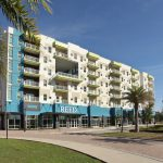 exterior view of The Reed at ENCORE! apartments in downtown Tampa