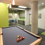 billiards room at The Reed at ENCORE! apartments in downtown Tampa