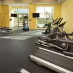 fitness center at The Reed at ENCORE! apartments in downtown Tampa