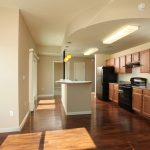 living room and kitchen at The Reed at ENCORE! apartments in downtown Tampa