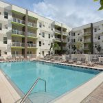 swimming pool at The Reed at ENCORE! apartments in downtown Tampa