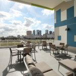 sun terrace at The Reed at ENCORE! apartments in downtown Tampa